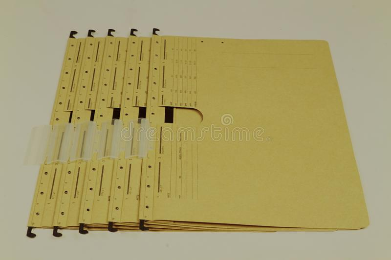 Document files, folders in various colors royalty free stock images