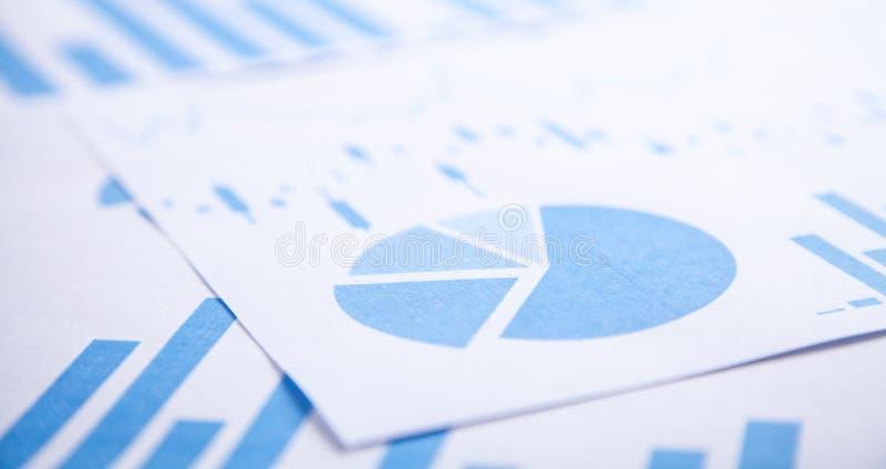 Document financier de graphiques de gestion Concept d'affaires image libre de droits