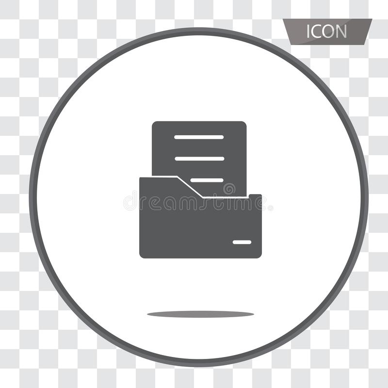 Document flat vector icon. Archive data file symbol isolated on vector illustration