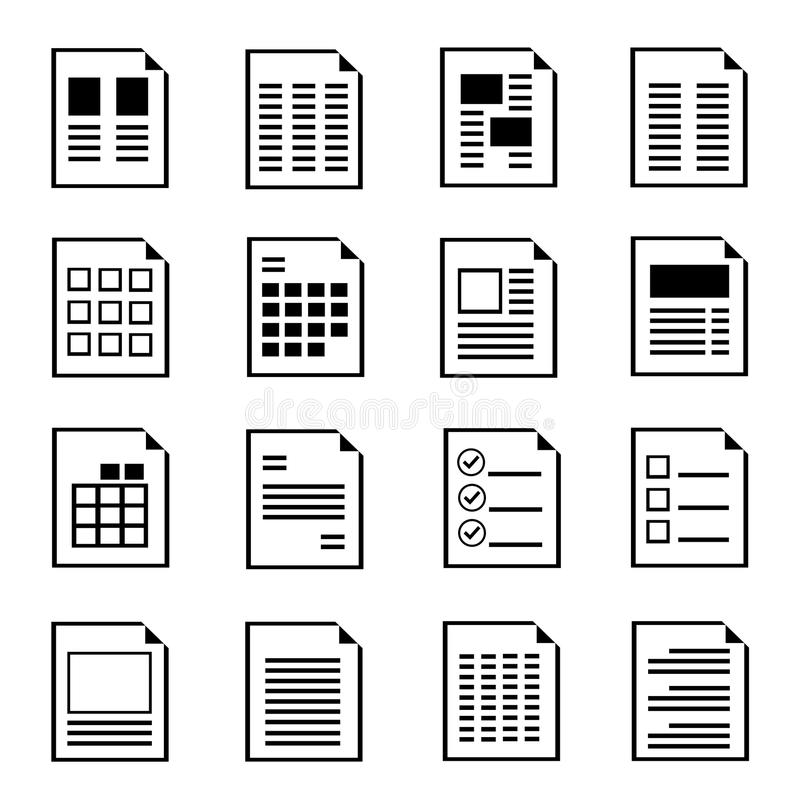 Free Document Form Icons Royalty Free Stock Photography - 36446987