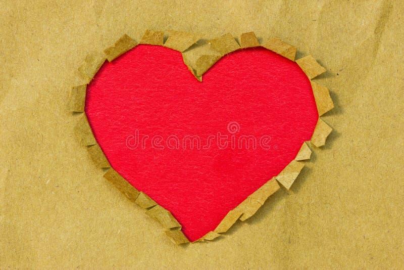 Document gat in een hartvorm royalty-vrije stock foto