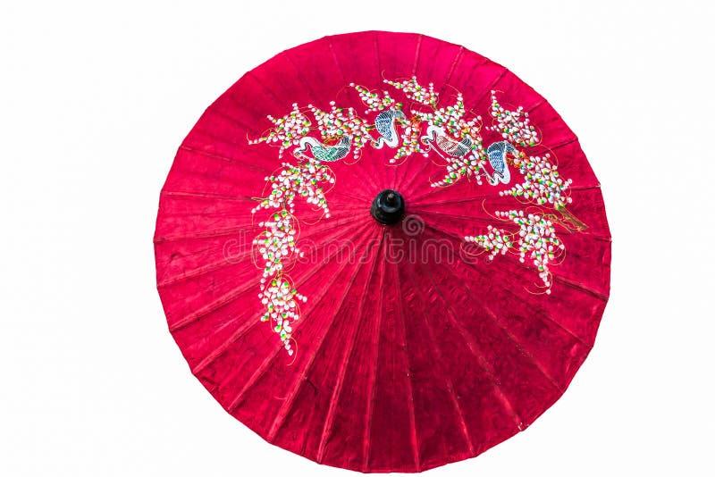 Document geïsoleerde paraplu royalty-vrije stock foto's