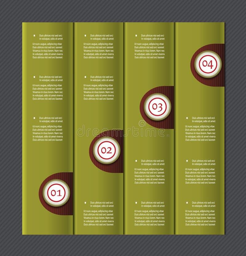 Document genummerde banners. Vectorontwerpmalplaatje. vector illustratie