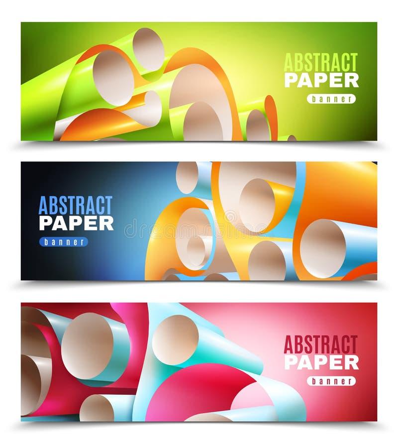 Document Geplaatste Broodjesbanners vector illustratie