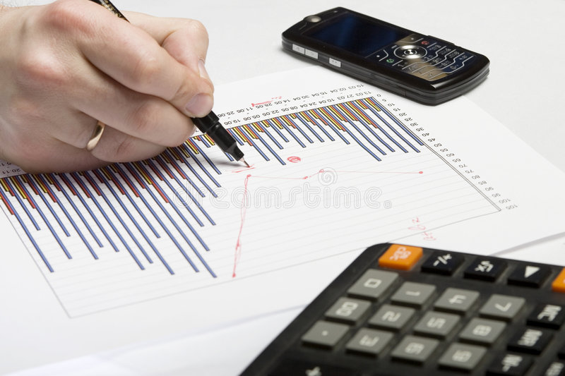 Document graphics 11 stock image