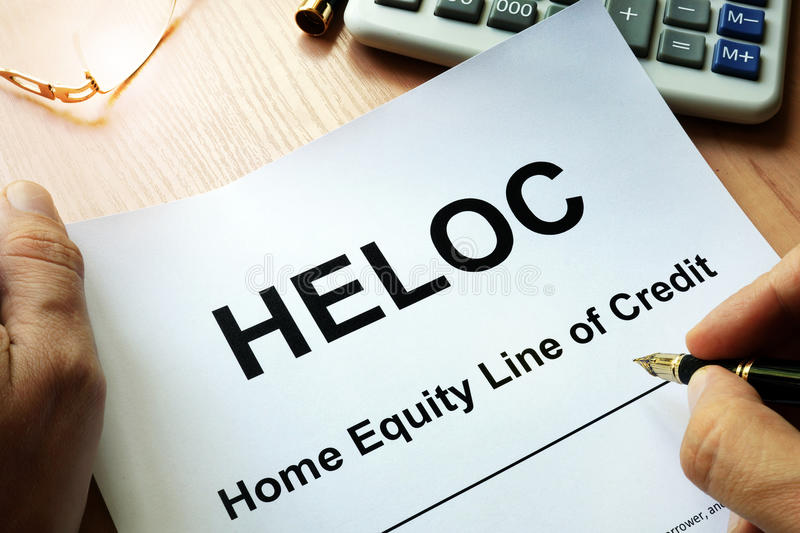 Document HELOC Home Equity Line Of Credit. Stock Photo - Image of ...