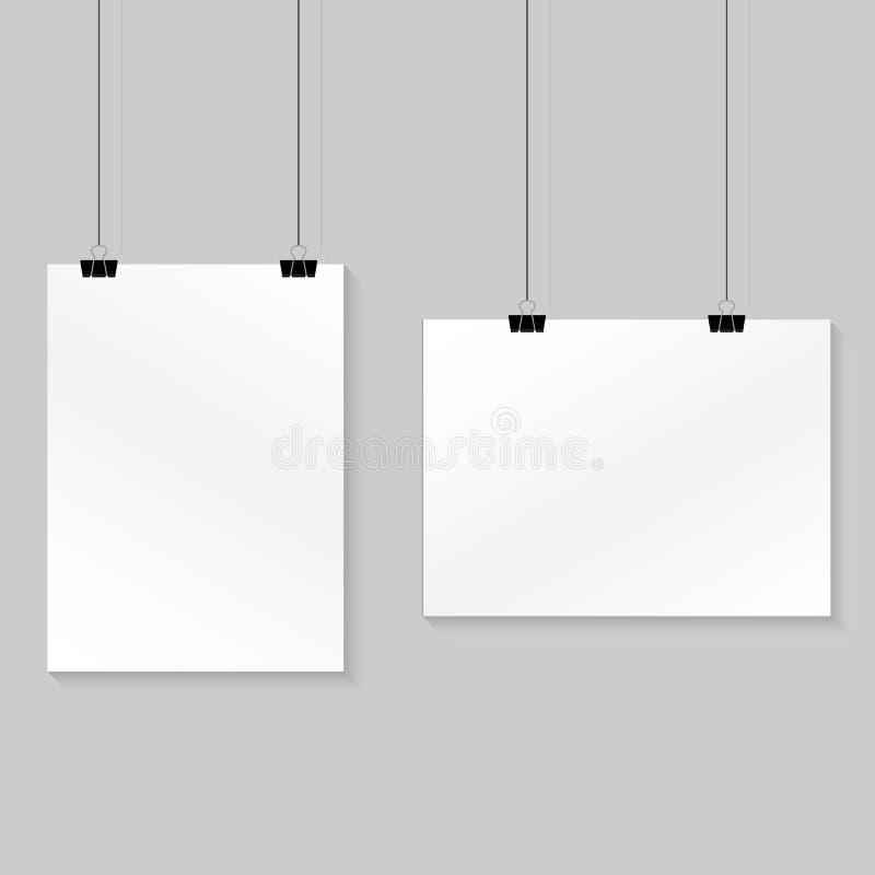 document het hangen op de muur Vector illustratie vector illustratie
