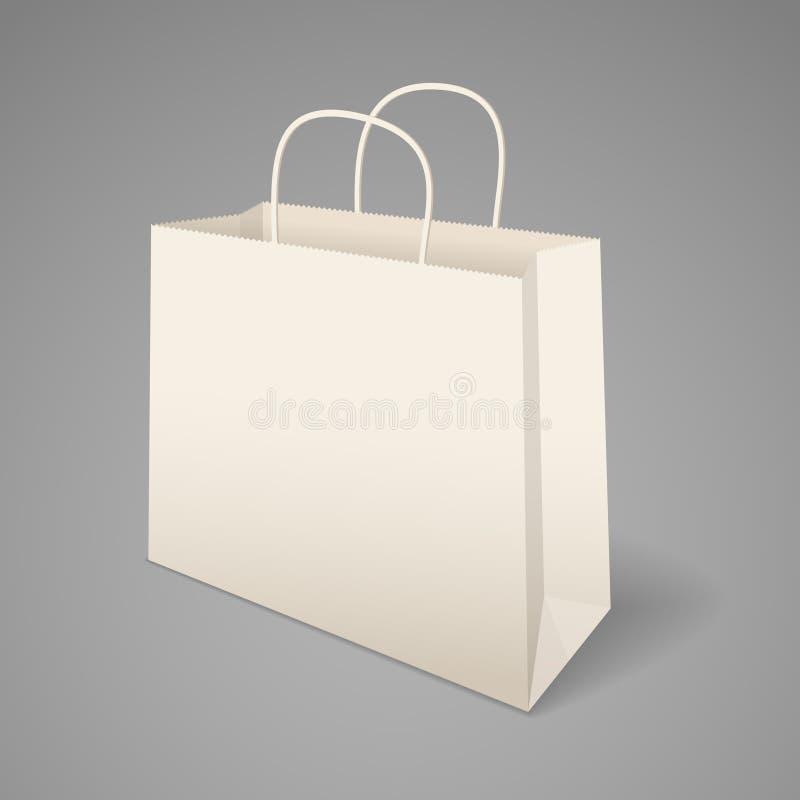 Document het winkelen zak met handvatten stock illustratie