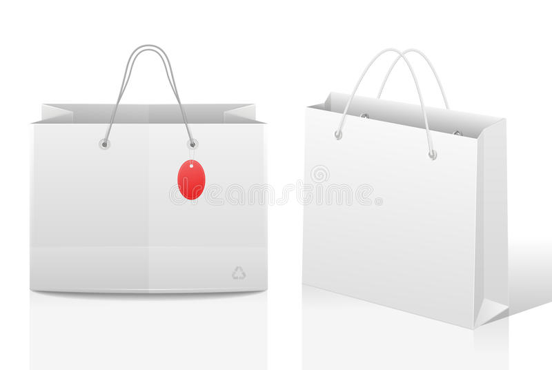 Document het winkelen zakken vector illustratie