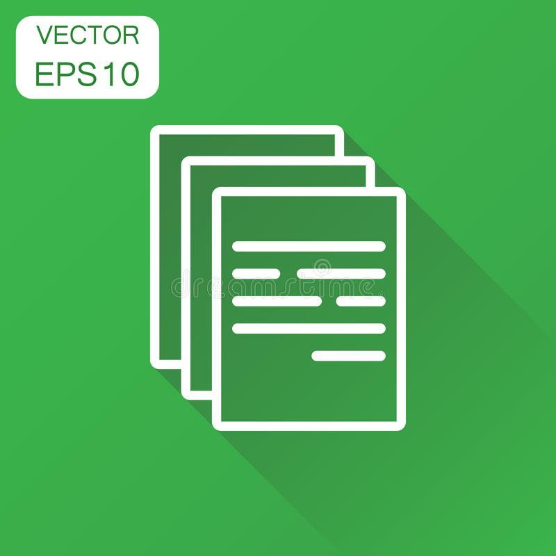 Document icon. Business concept document note pictogram. Vector royalty free illustration