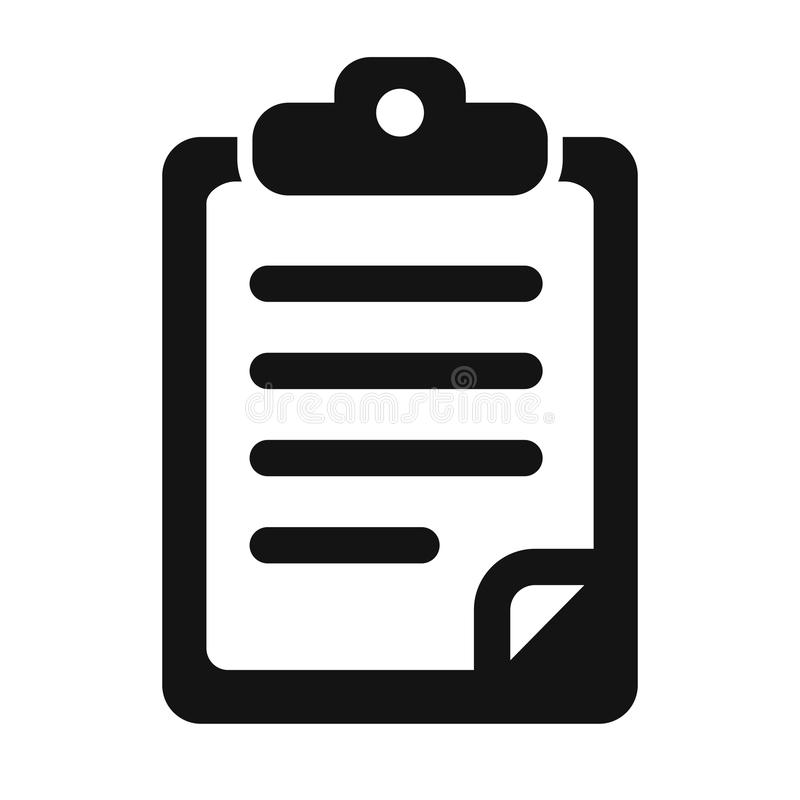 Document icon - for stock vector illustration