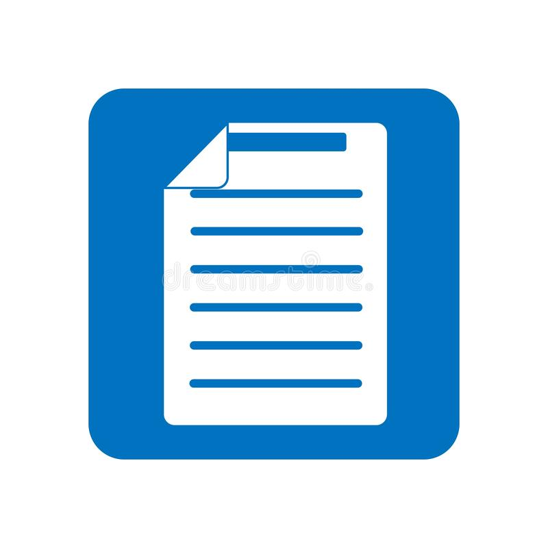 Document Icon Of Symbol. Blue Icon On A White Background ...  Document Symbol