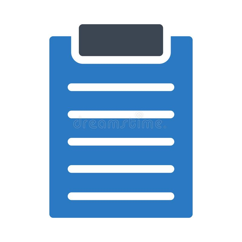 Document glyph colour vector  icon royalty free illustration