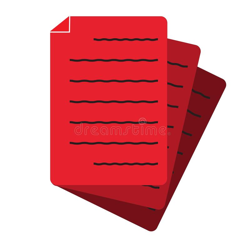 Document icon on white background. flat style. document icon for your web site design, logo, app, UI. red document symbol. file vector illustration