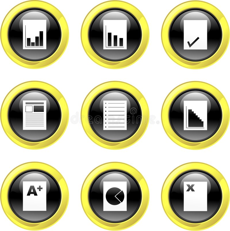 Download Document Icons Stock Photos - Image: 3664213