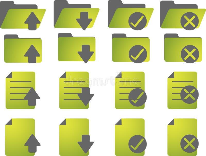 Download Document icons stock illustration. Illustration of status - 8876855