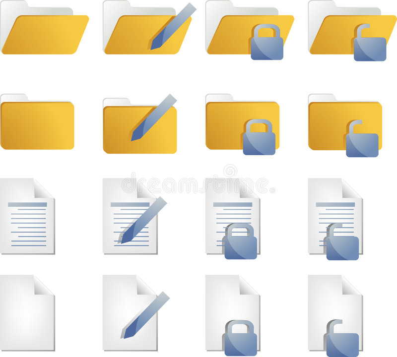 Download Document icons stock vector. Image of control, directory - 9341800