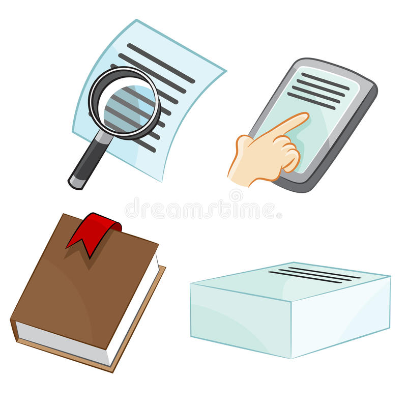 Document Icons. An image of document icons royalty free illustration