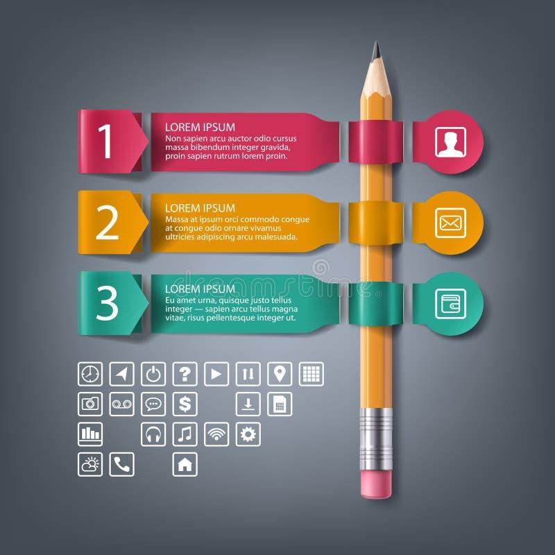 Document infographic banners met 4 stappen, opties royalty-vrije illustratie