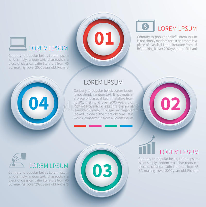 Document infographic cirkel stock illustratie