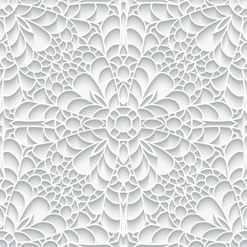 Document kanttextuur, naadloos patroon stock illustratie
