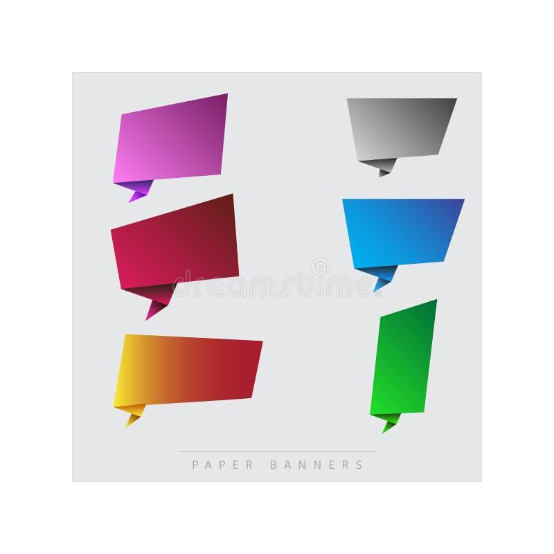 Document, kleurrijke banners vector illustratie