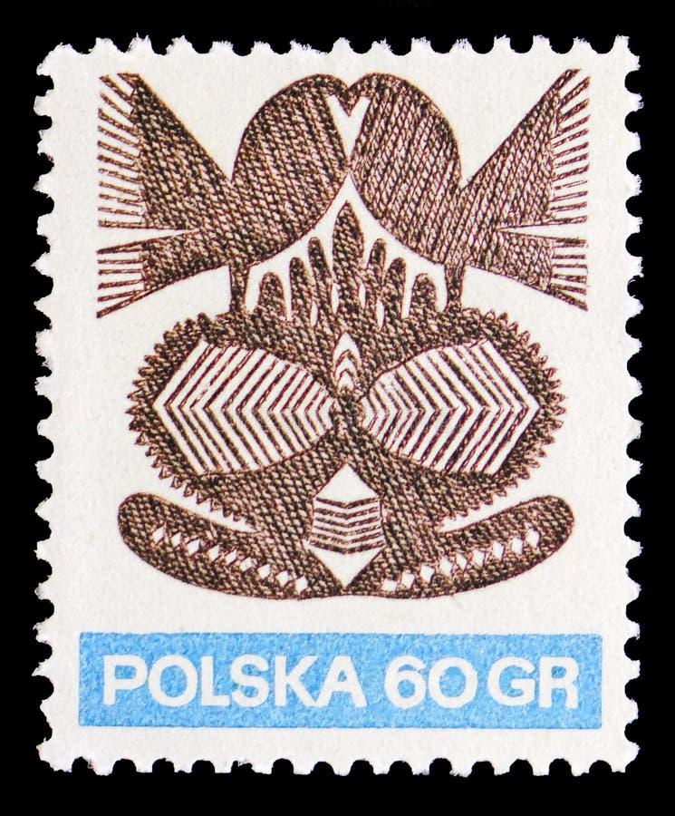 Document knipsels 3, Volkskunst serie, circa 1971 royalty-vrije stock afbeeldingen
