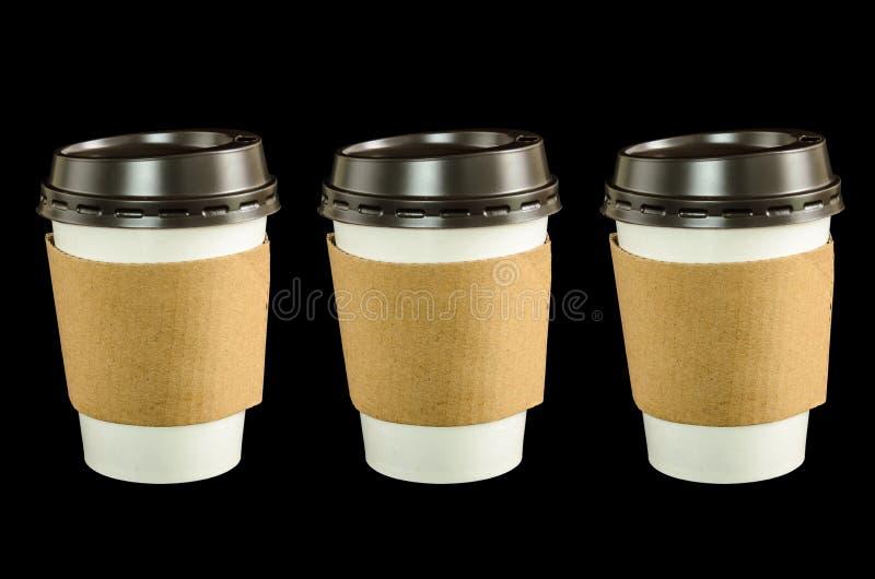 Document koffiekop royalty-vrije stock afbeelding