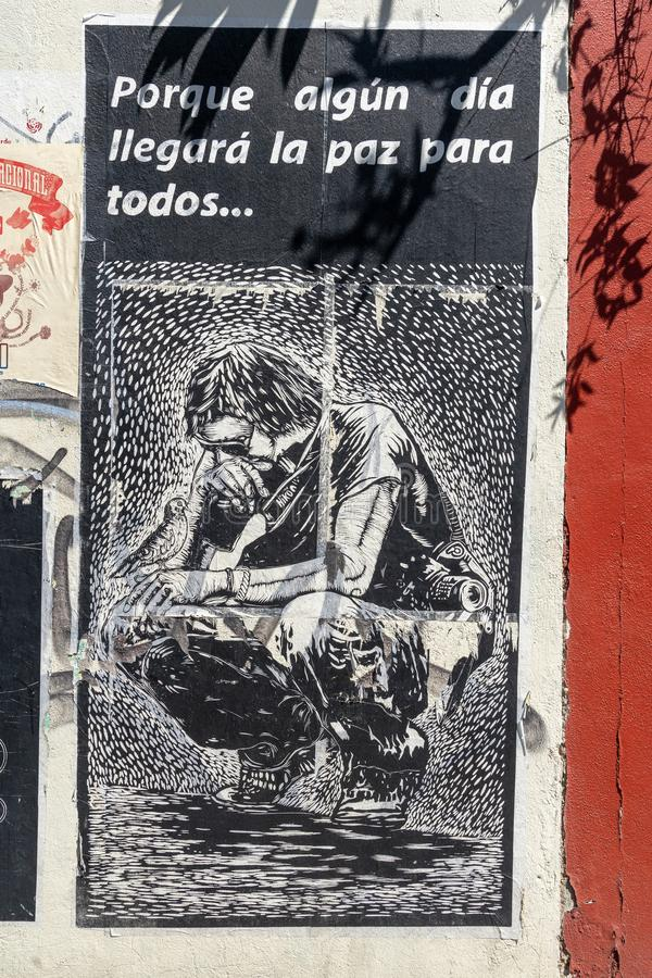 Document kunst in Oaxaca, Mexico royalty-vrije illustratie
