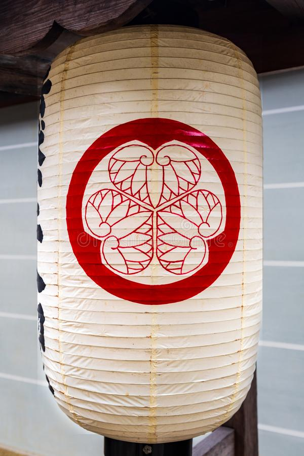 Document lantaarn in chion-in tempel in Kyoto, Japan stock afbeeldingen