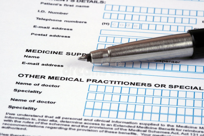 Document médical. photo stock