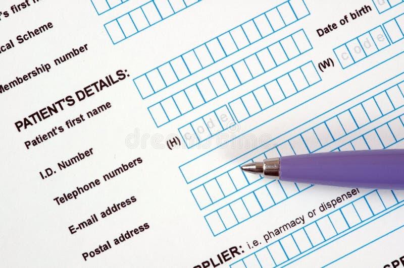 Document médical. photo libre de droits