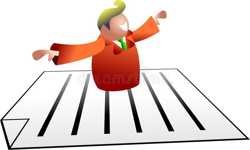 Document man. Business man flying on a document - icon people series royalty free illustration