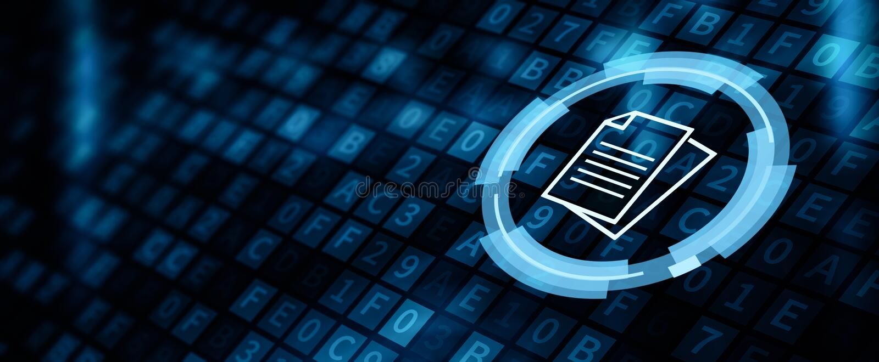 Document Management Data System Business Internet Concept.  royalty free illustration