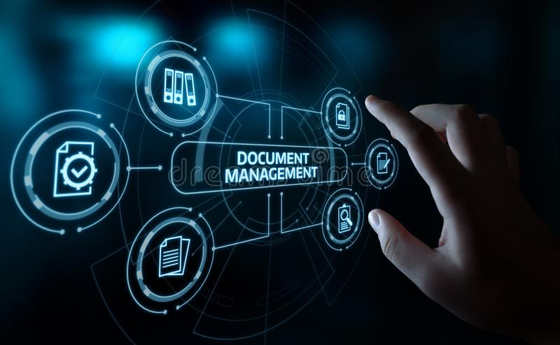 Document Management Data System Business Internet Technology Concept royalty free stock images