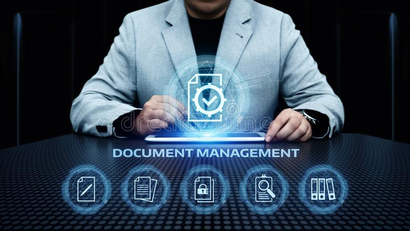 Document Management Data System Business Internet Technology Concept stock photography