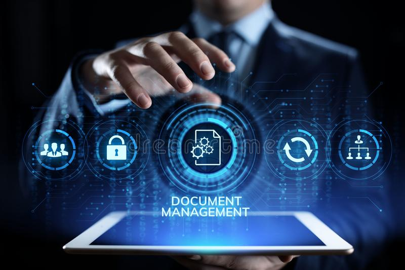 Document management system digital right management business technology concept. royalty free stock photos
