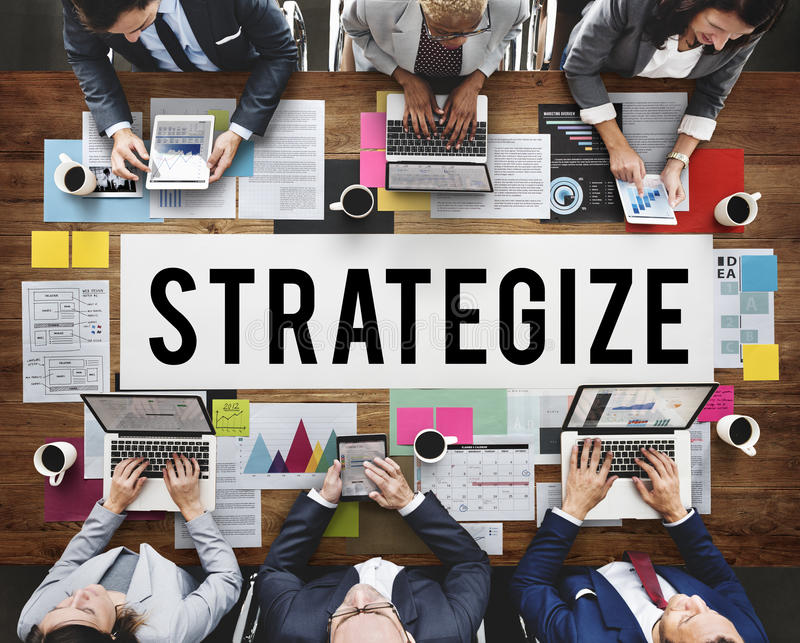 Document Marketing Strategy Business Concept Stock Photo