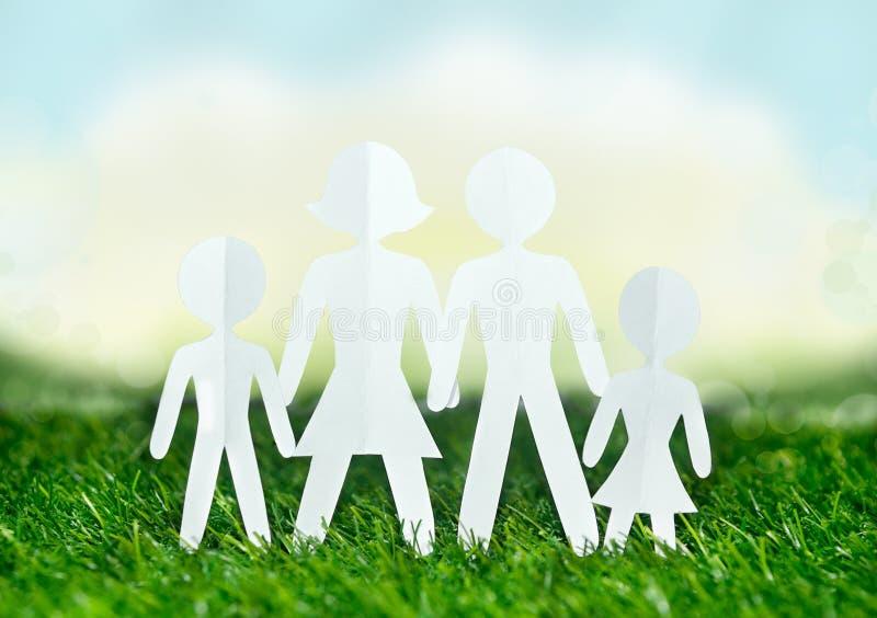 Document mensenfamilie royalty-vrije stock afbeelding