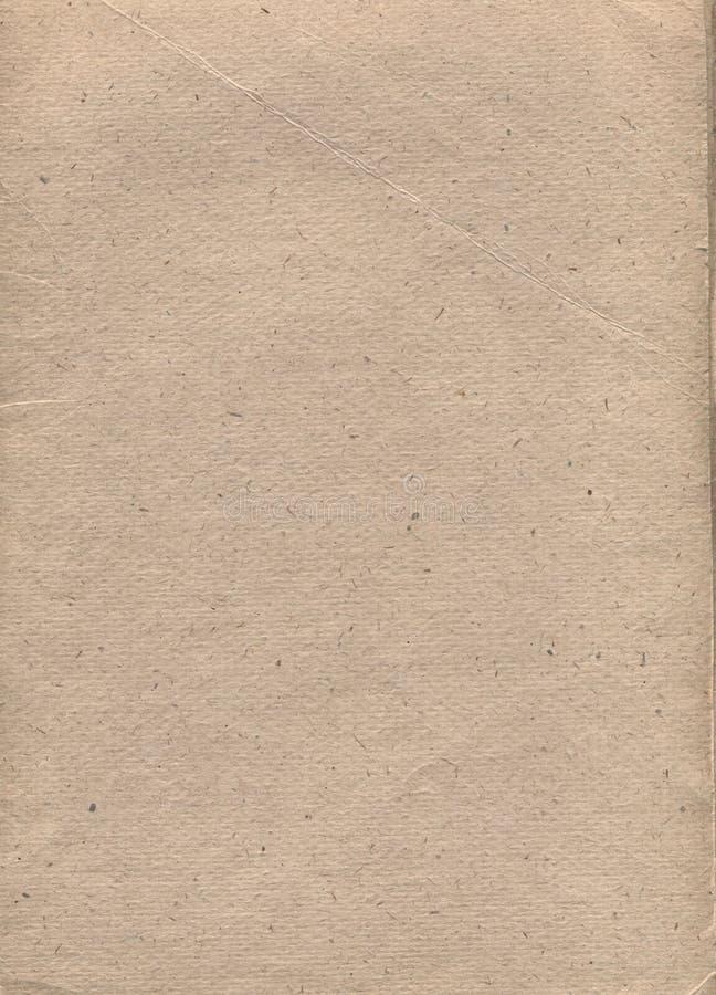 Document met een beige kleurentoon en een onderbreking royalty-vrije stock afbeeldingen