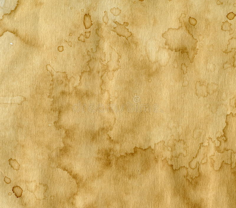 Document met koffievlekken royalty-vrije stock afbeelding