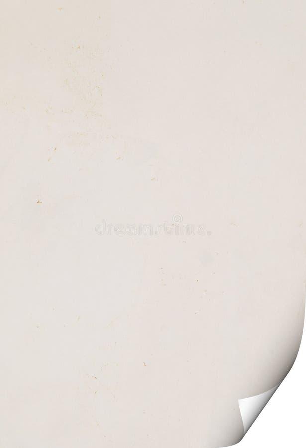 Document met krul royalty-vrije stock afbeeldingen