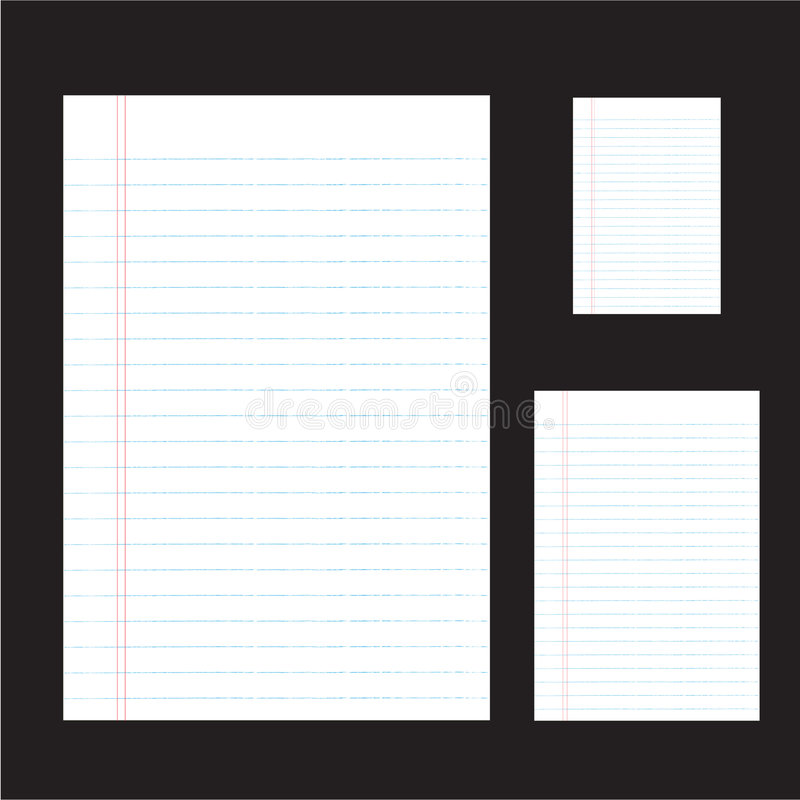 document met nevenactiviteit stock illustratie