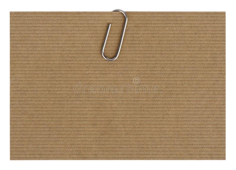 Document met paperclip royalty-vrije stock foto's