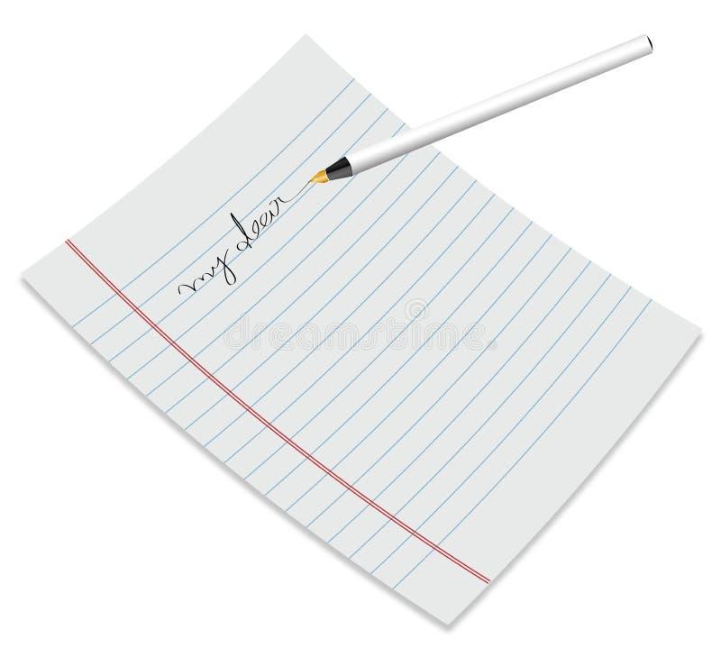 Document met pen vector illustratie