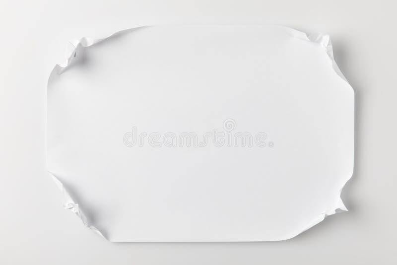 Document met verfrommelde hoeken stock foto