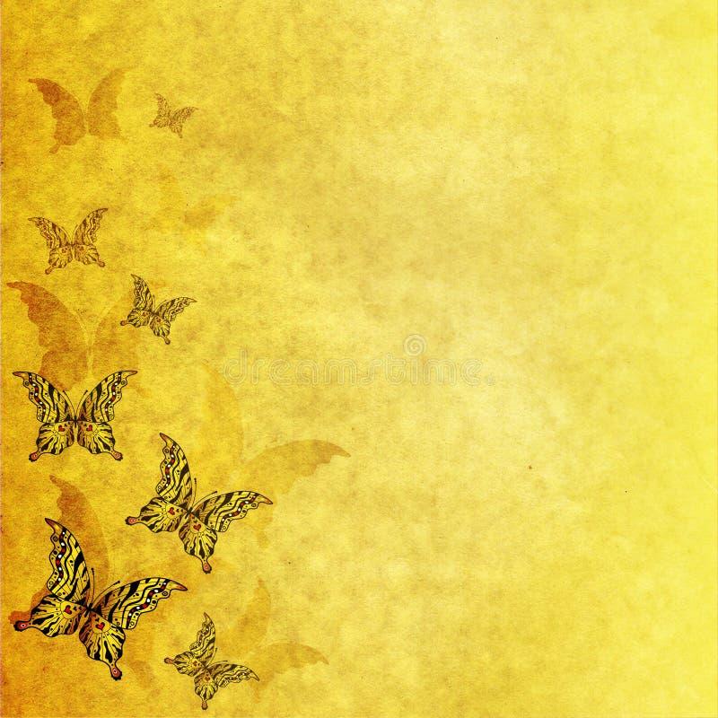 Document met vlinders royalty-vrije stock afbeeldingen