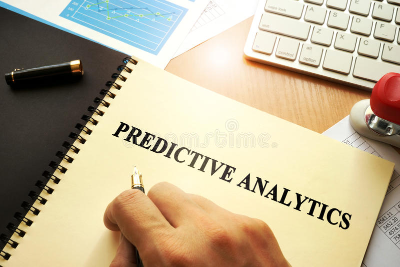Document with name predictive analytics. royalty free stock images