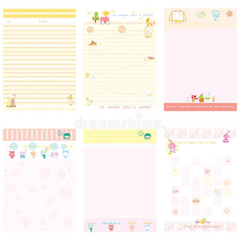 Document Notitieboekje roze en gele stijl royalty-vrije stock foto's