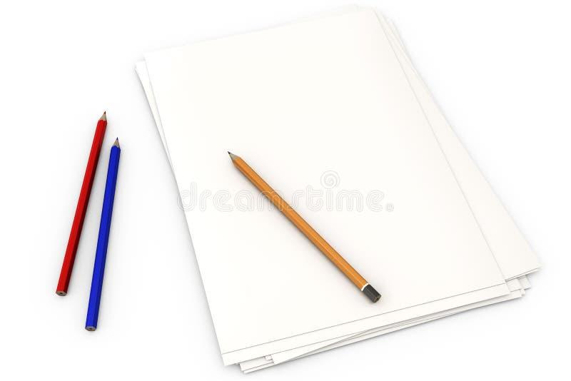 Document op Wit vector illustratie